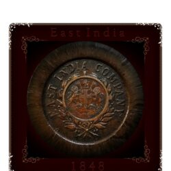 1848 East India Company 1/12 Anna Coin - Best Found