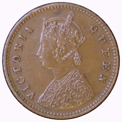 1876 1/12 One twelve Anna Queen Victoria Br India