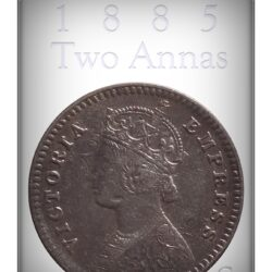 1885 2 Annas Silver Coin British India Queen Victoria Empress - Best Buy