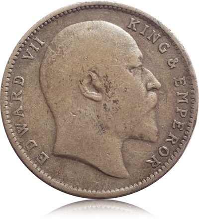 1904 1 Rupee Silver Coin British India King Edward VII Calcutta Mint - Worth Buy
