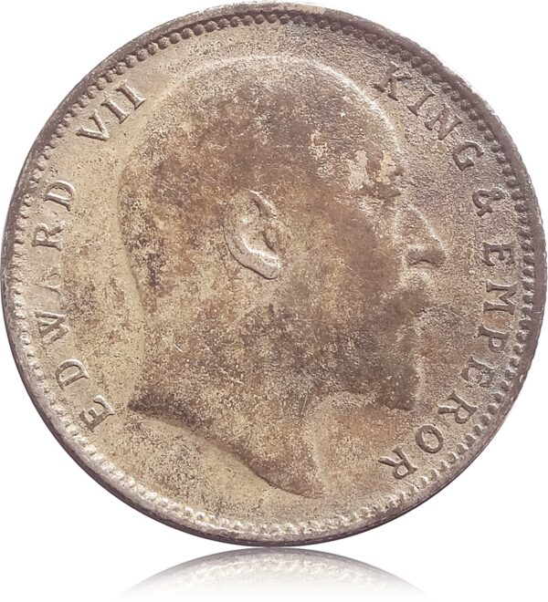 1905 King Edward VII 1 Rupee Coin Bombay Incused Mint - Best Buy