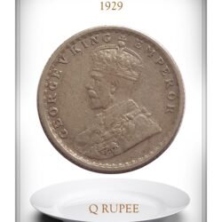 1929 1/4 Quarter Rupee British India King George V  Calcutta Mint Coin - Best Buy
