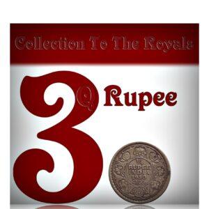 1930 King George V Quarter Rupee Coin 1930 Calcutta Mint