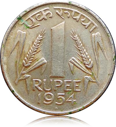 1954 1 Rupee Republic India Coin Bombay Mint - Best Buy