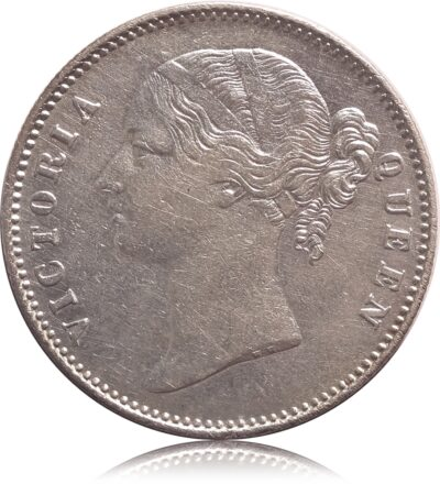 1840 1 Rupee Silver Coin Queen Victoria Divided Legend - Worth Buy