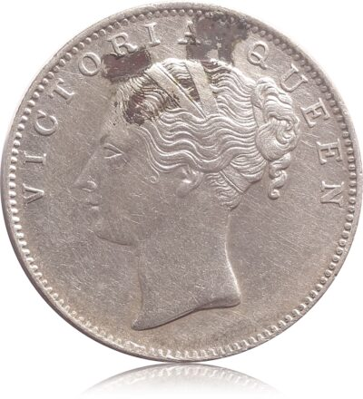 1840 1 Rupee Silver Coin Queen Victoria  Continuous Legend 19 Berries - RARE