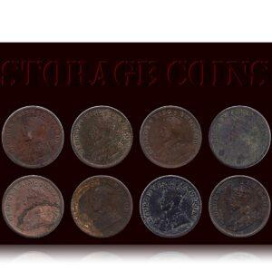 1920 1934 1/4 Quarter Anna King George V - Calcutta Mint - Best Buy 8 coins