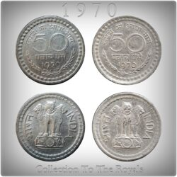 50 Paise Republic India Coin 1970 Bombay & Calcutta Mint -2 Coins -Best Price