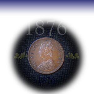 1876 1/12 One twelve Anna Queen Victoria Br India
