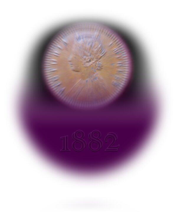 1882 1/12 Twelve Anna Queen Victoria Empress Calcutta Mint