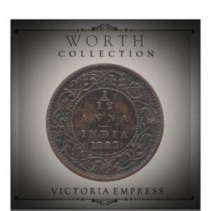 1883 1/12 Twelve Anna British India QueenVictoria Empress - Worth Buy