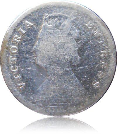 1883 2 Annas Victoria Empress Calcutta Mint - Worth Buy