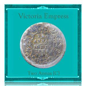 1883 Two Annas Calcutta Mint