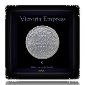 1888 2 Annas Queen Victoria Empress Bombay Mint