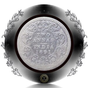 1891 2 Annas Victoria Empress Bombay Mint