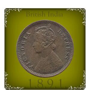 1891 1/12 Twelve Anna British India QueenVictoria Empress