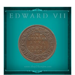 1907 1/4 Quarter Anna British India King Edward VII