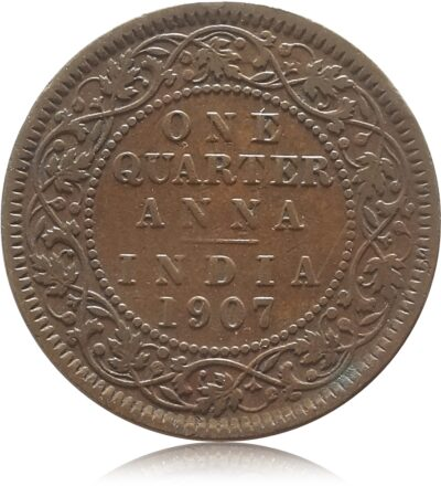 1907 1/4 Quarter Anna British India King Edward VII