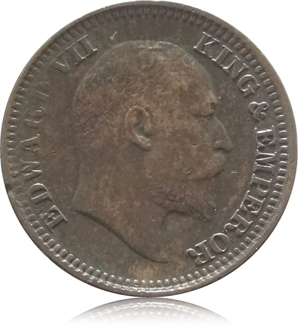 1910 1/2 Half Pice British India King Edward VII Calcutta Mint