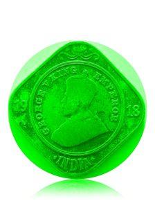 1918 2 Annas Coin British India King George V Calcutta Mint