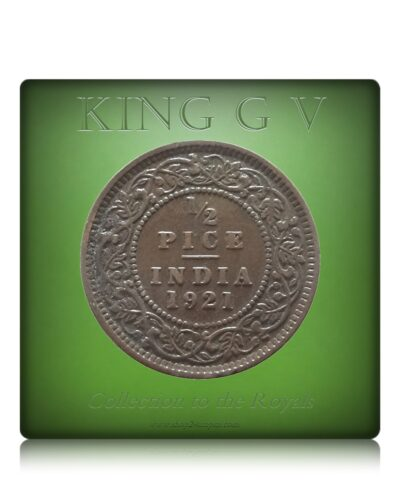 1921  1/2 Half Pice British India King George V Calcutta Mint - Best Buy