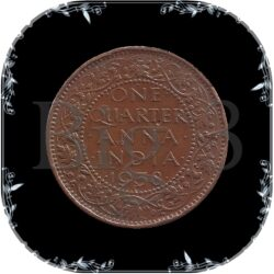 1938 1/4 Quarter Anna -King George VI
