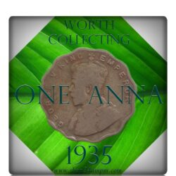 1935  1 One Anna Coin British India King George V