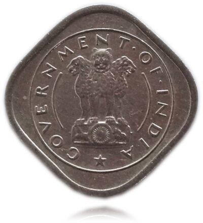 1955 1/2 Half AnnaBull Coin