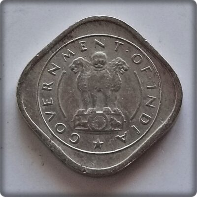 1954  HALF ANNA BULL COIN GOVERNMENT OF INDIA