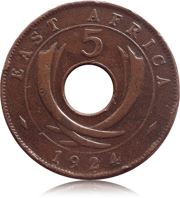 19245Five Cents Coin East Africa King George V