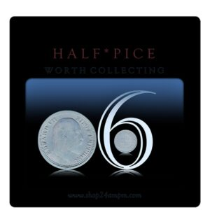 1906 1/2 Half Pice Coin British India King Edward VII