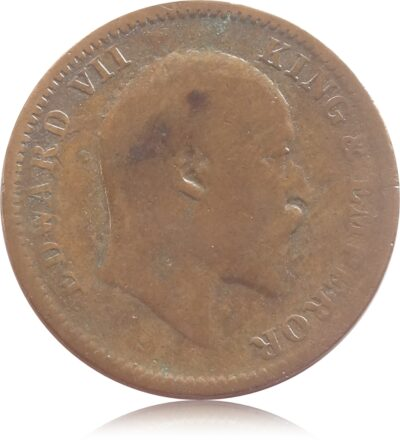 1906  1/4 Quarter Anna British India King Edward VII