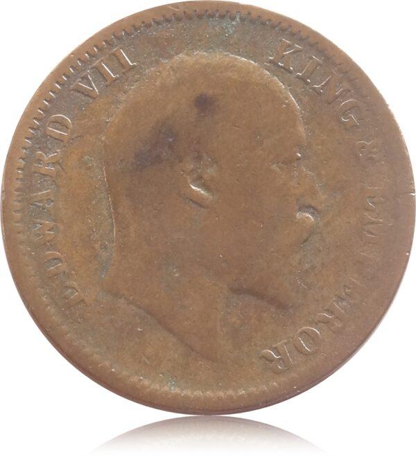 1906 1/4 Quarter Anna British India King Edward VII