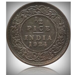 1924 1/2 Half Pice British India King George V Calcutta Mint - Best Buy