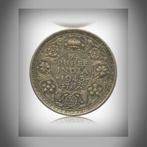 1943 1/4 Rupee George VI King Emperor - Calcutta Mint