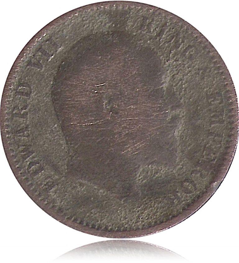 1905 1/4 Quarter Anna British India King Edward VII