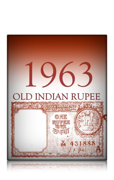 """1963 1 Rupee Note Sign By L.K.JHA Ending Fancy Number """"888"""""""