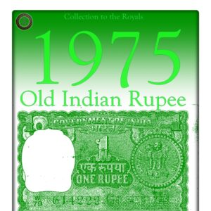 "A-32  1975  1 Rupee Note G Inset M. G. Kaul Ending Fancy Number ""222"""