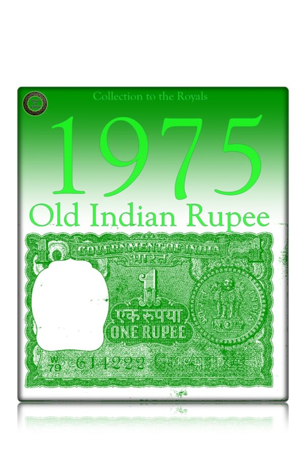 """A-32 1975 1 Rupee Note G Inset M. G. Kaul Ending Fancy Number """"222"""""""