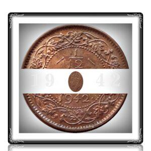 1942 1/12 Twelve Anna British India King George VI