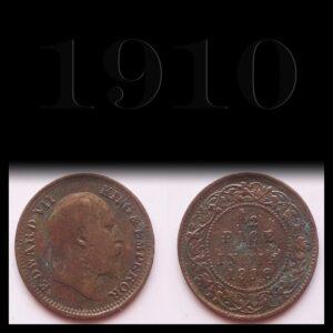 1910 1/2 Pice King Edward VII British india - Best Buy