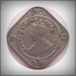 1929 2 annas British India King George V - Best Buy