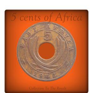 1942 5 Cents East Africa - King Georgivs VI