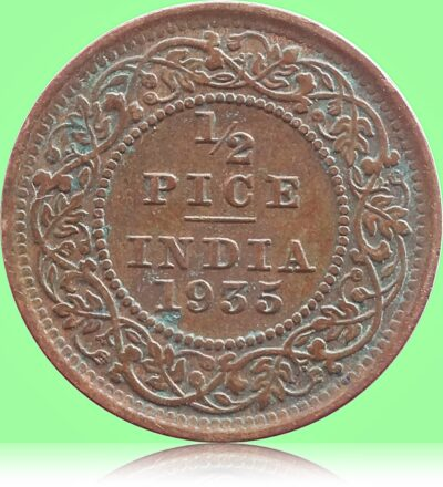 1935 1/2 Half Pice British India King George V