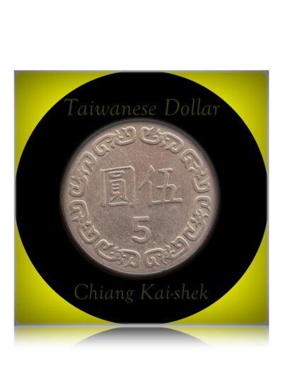 1981 5 Dollar Taiwanese coin - Chiang Kai-shek