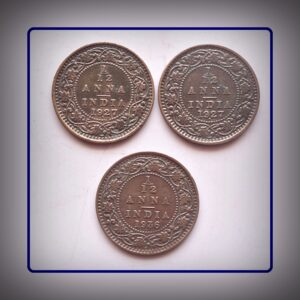 1927 1927 1936 1 PIE 1/12 Anna KING GEORGE V - 3 coins