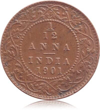 1901 1/12 Twelve Anna British India Queen Victoria Empress