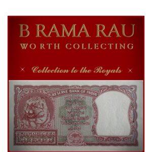 B-2 1951 2 Rupee UNC Note Sign by B. Rama Rau