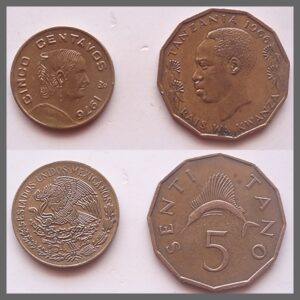 1966 1967 5 SENTI TANO & CENTAVOS Best Buy 2 coins