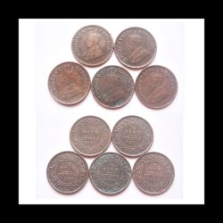 1917 1936 1/2 Half Pice British India King George V Coins